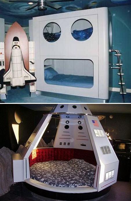 идеи стилизация детской комнаты под космос