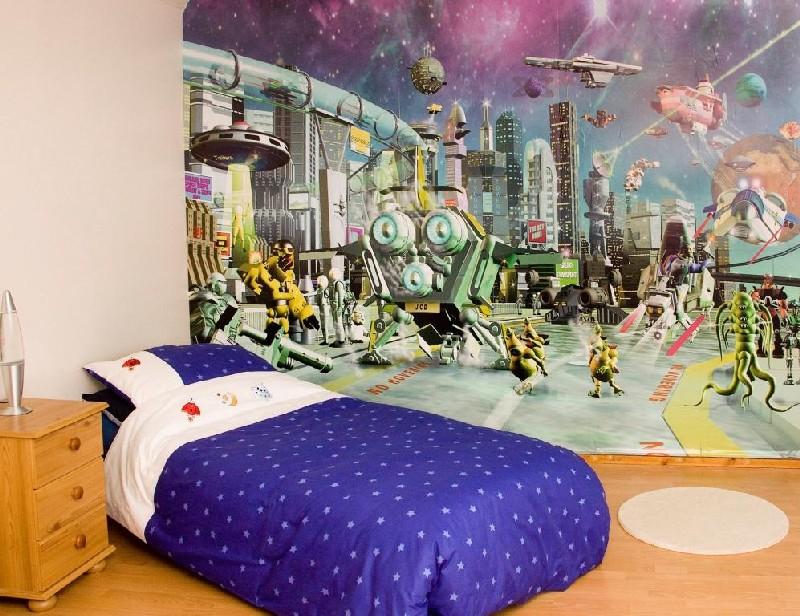 дизайн для детской комнаты в стиле космос