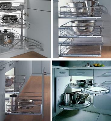 вместительные шкафы для маленькой кухни