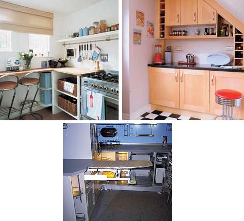шкафы для маленькой кухни