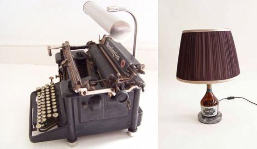 дизайнерские лампы из старых вещей