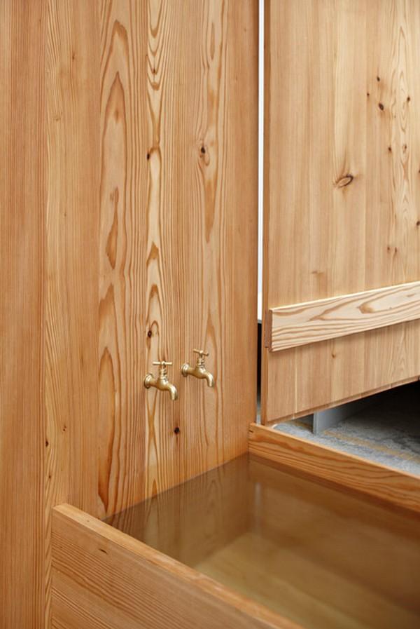 шкафа ванная из дерева
