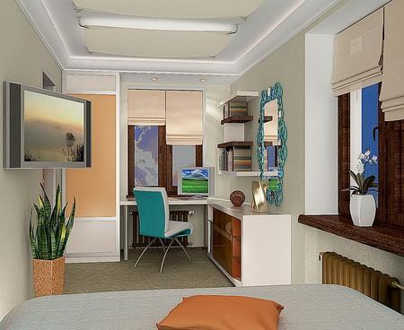 интерьер для спальной комнаты в хрущевки
