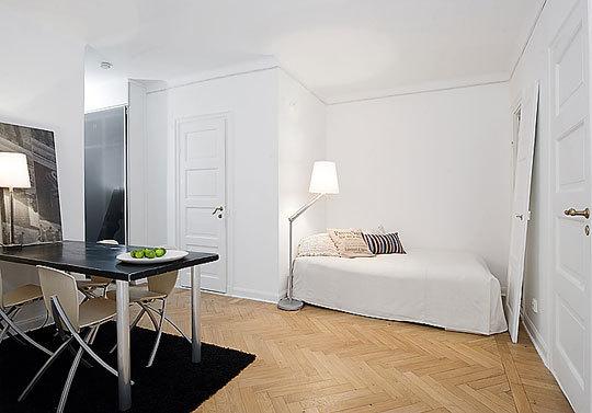 дизайн спальной комнаты для маленькой квартиры