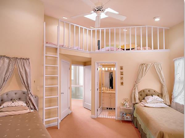 спальня для девочек с вторым этажом