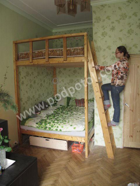 Двухъярусная кровать семейная