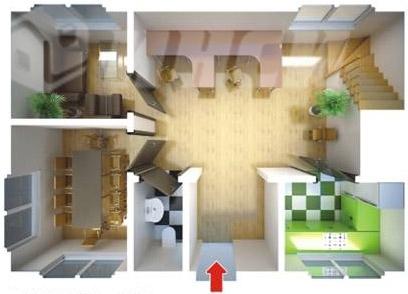 Быстровозводимый дом офис план первого этажа