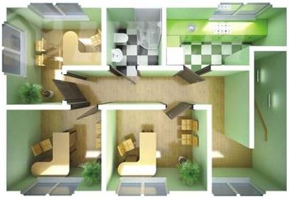 Быстровозводимый дом офис - план второго этажа