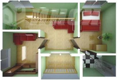 Быстровозводимый дом для индивидуальной застройки - план второго этажа