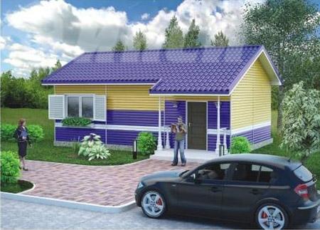 одноэтажный быстровозводимый дом для индивидуальной застройки