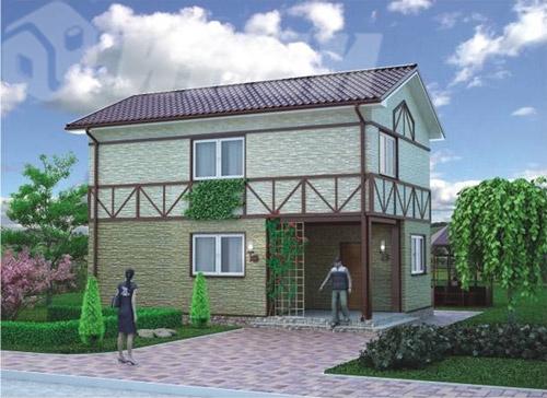 Быстровозводимый дом для индивидуальной застройки