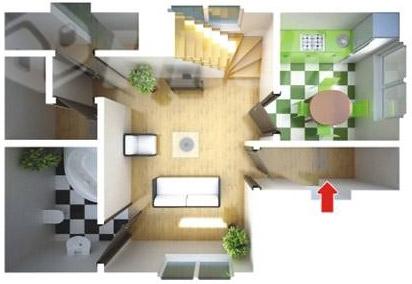 Быстровозводимый дом для индивидуальной застройки план первого этажа