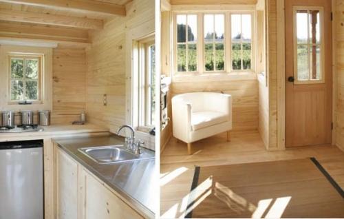 самодельный деревянный дом на колесах