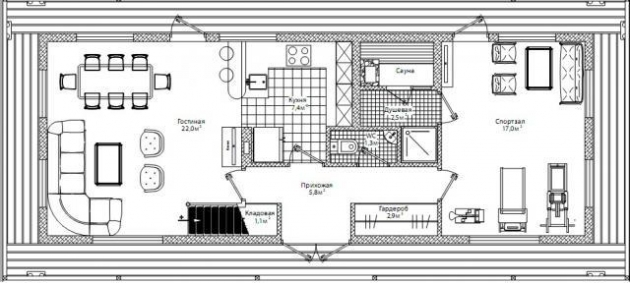 дом на понтонах