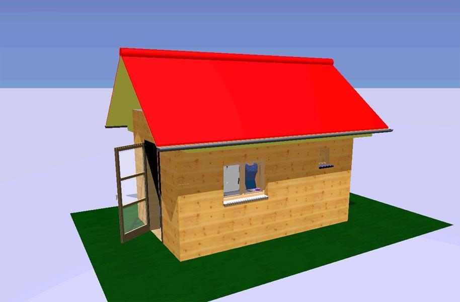 Очень маленький дом со всеми удобствами из бытовки