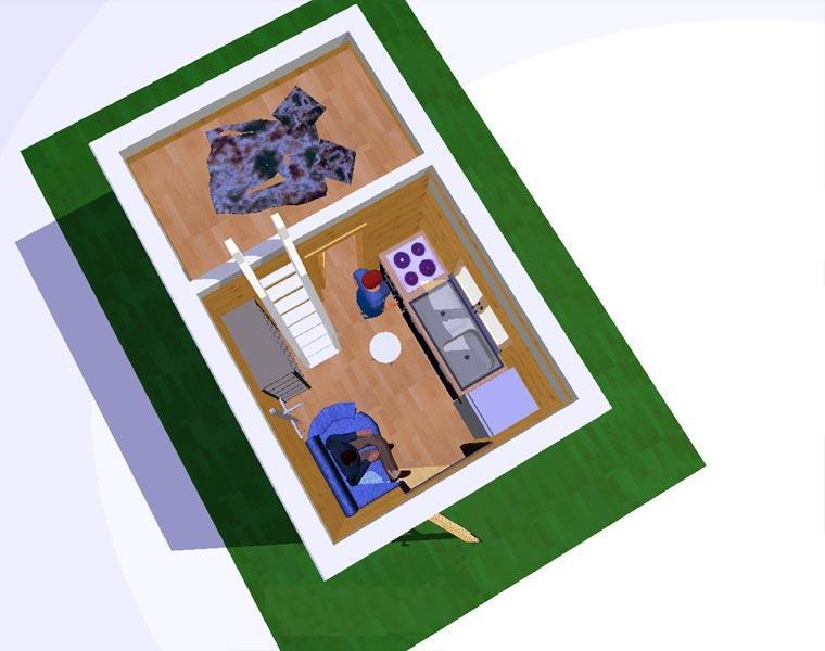 маленький дом со всеми удобствами из бытовки