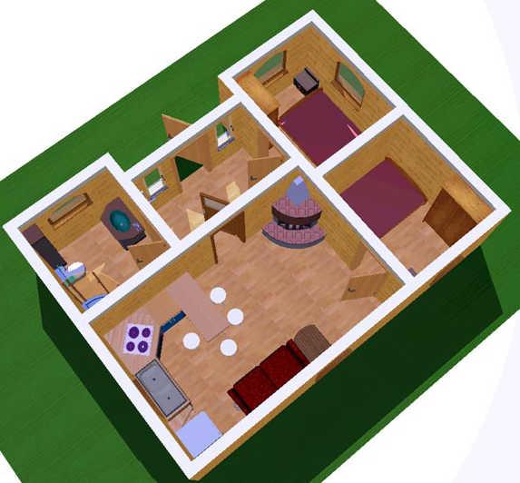 План Дом из бытовок
