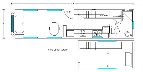планировка для дома на колесах