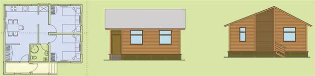 дачный дом на 3 комнаты