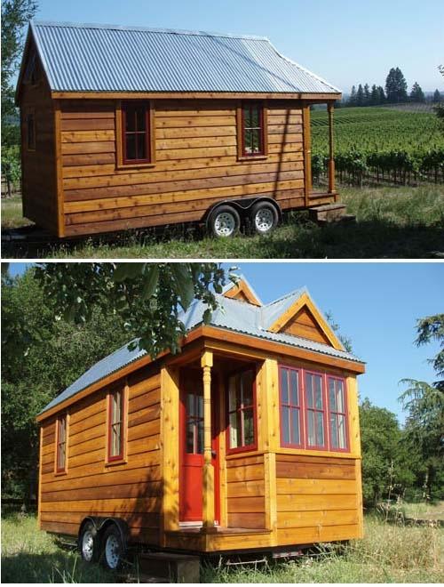 самодельный дом на колесах из дерева