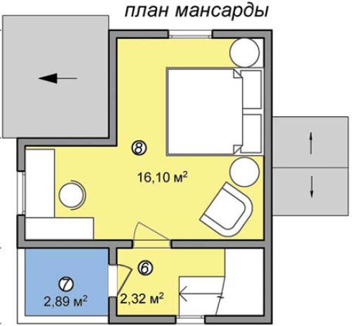 дачный двухэтажный дом на 50 кв метров план 2 этажа