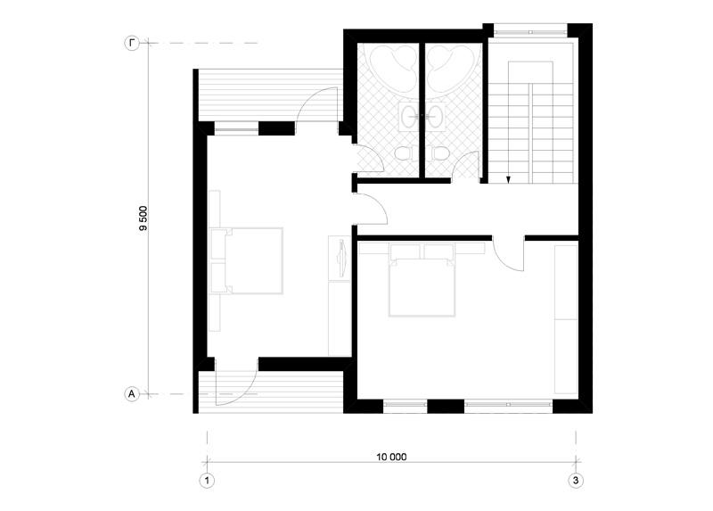 модульный дом план
