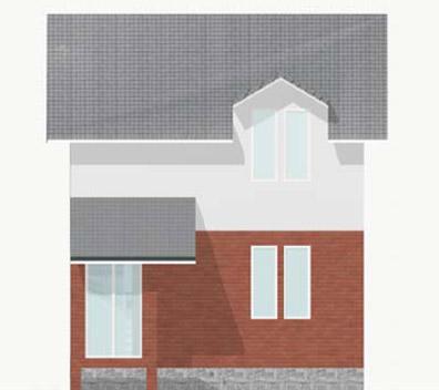 Маленький дом - фасад лицевой стороны