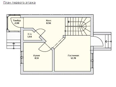 Маленький дом - План первого этажа