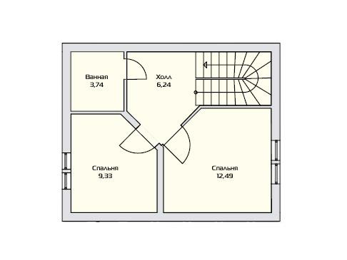 Маленький дом - План второго этажа