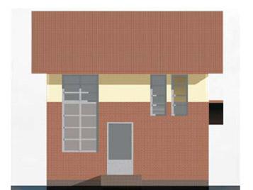 Маленький дом - фасад тыльной стороны