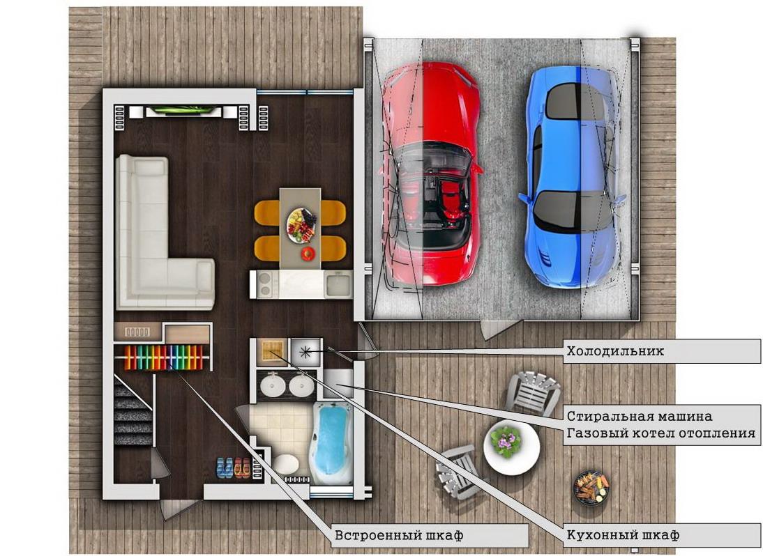 план первого этажа дом из швеции