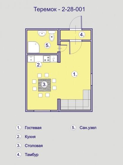 дом из бытовки планировка