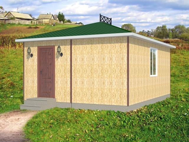 загородный дом из бытовок