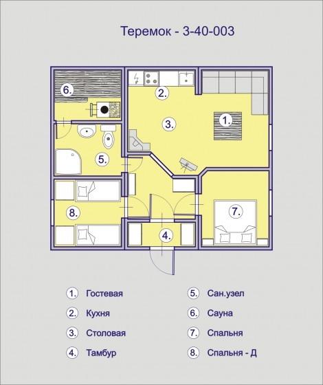 дом из бытовок планировка