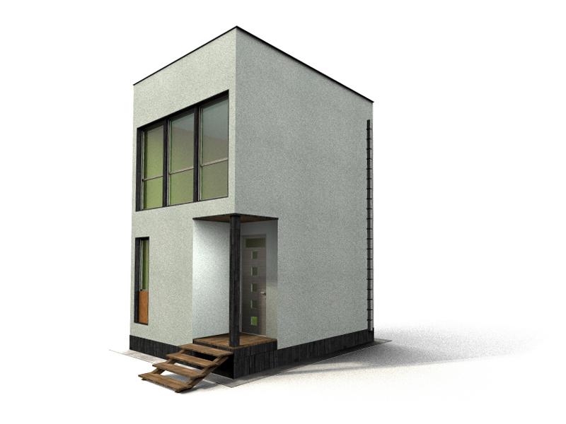 квадратные дома