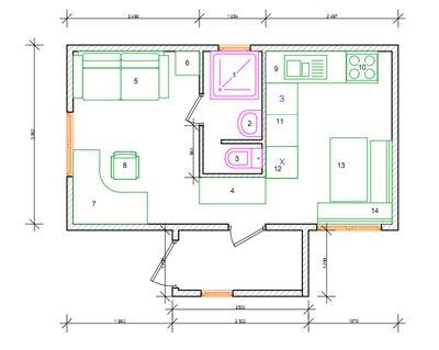 дом вагончик план