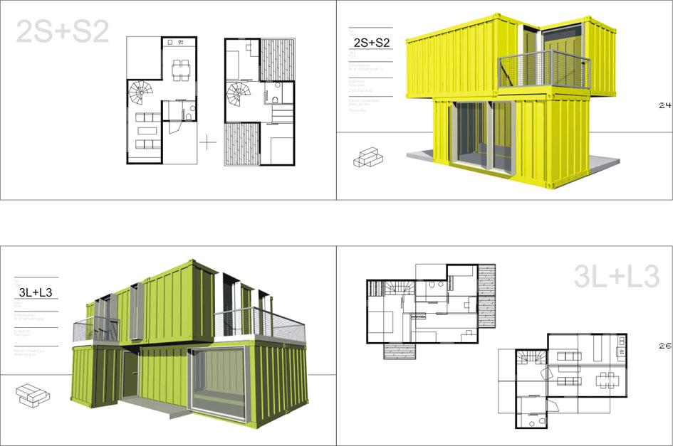 загородный дом из 4 или 6 бытовок