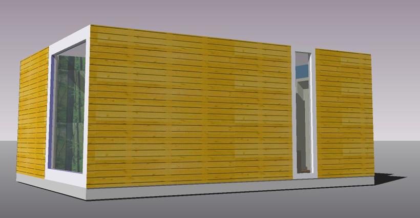 дачный дом из бытовки с терассой