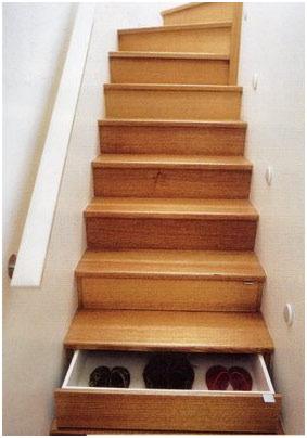 ящики и лестница