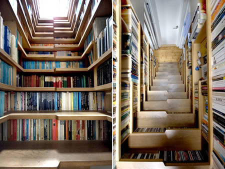 библиотека из лестници