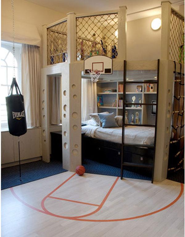 детская комната и мини баскетбольная площадка