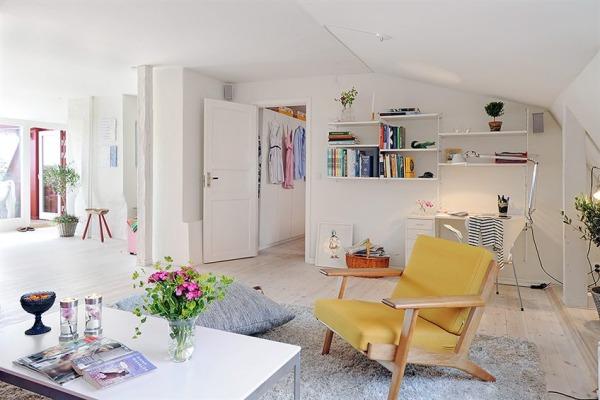 гостинная и кабинет на чердаке