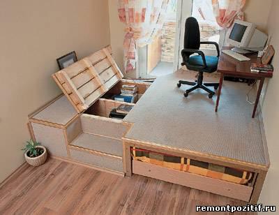 Подиум для маленькой спальни