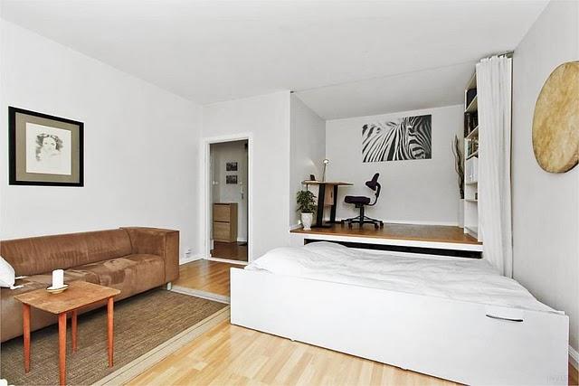 Подиум для однокомнатной квартиры