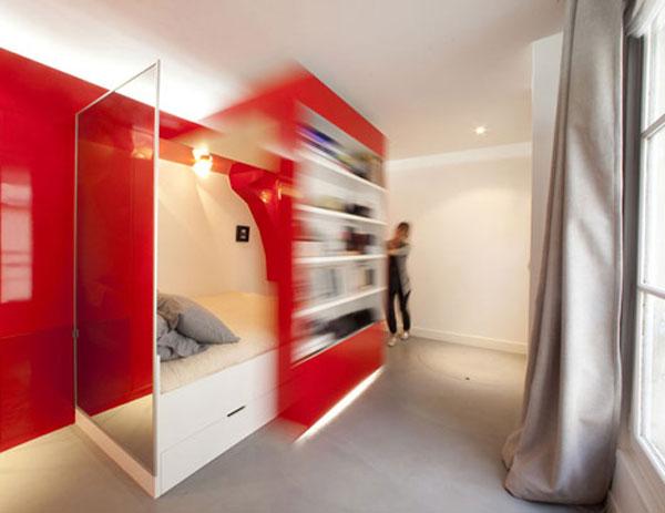 дизайн маленькой квартиры кровать