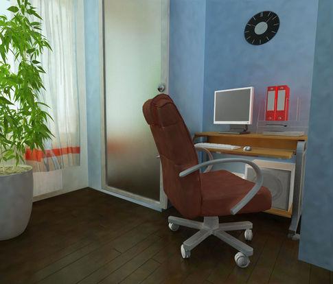 домашний кабинет из кладовки