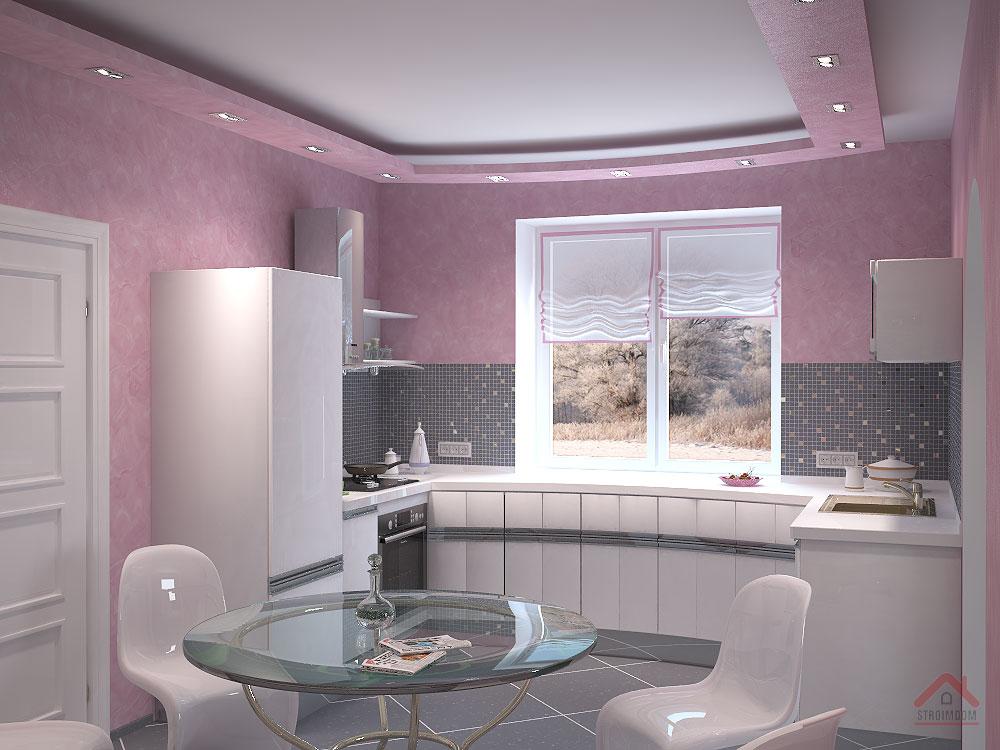 Дизайн интерьер кухни маленькой