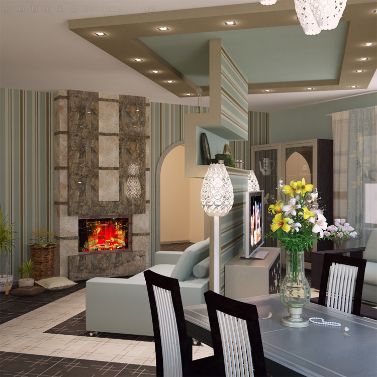авторский дизайн гостиной комнаты