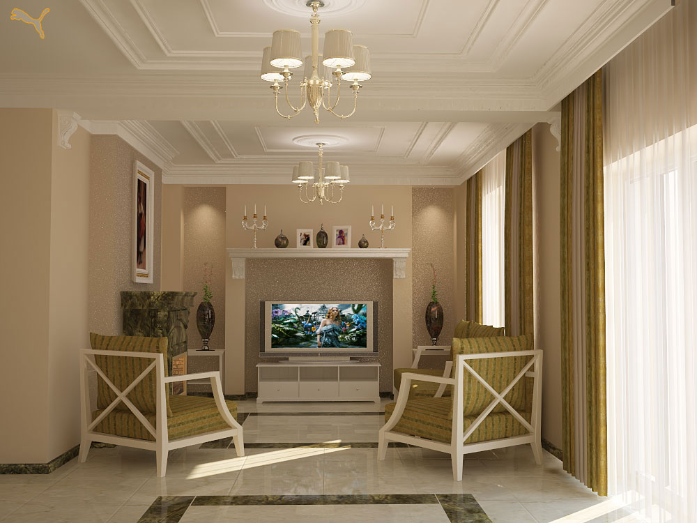 фото шикарной гостиной комнаты