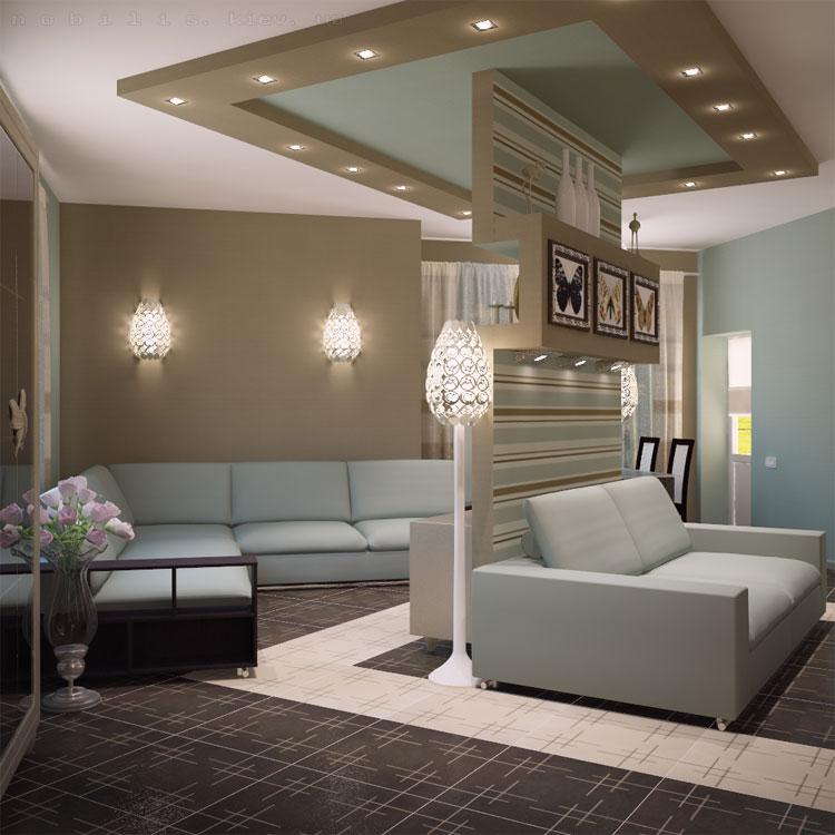 план гостиной комнаты
